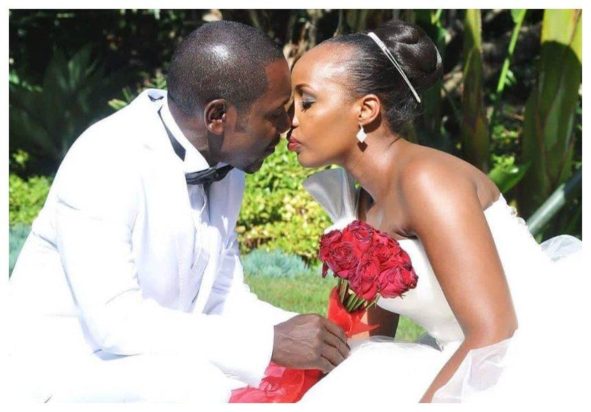 Teacher Wanjiku and husband Victor Ber celebrate 4th wedding anniversary (Photos)