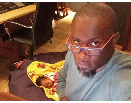 """""""Am making bags to feed my baby"""" Widowed music producer Tedd Josiahis quitting music industry"""