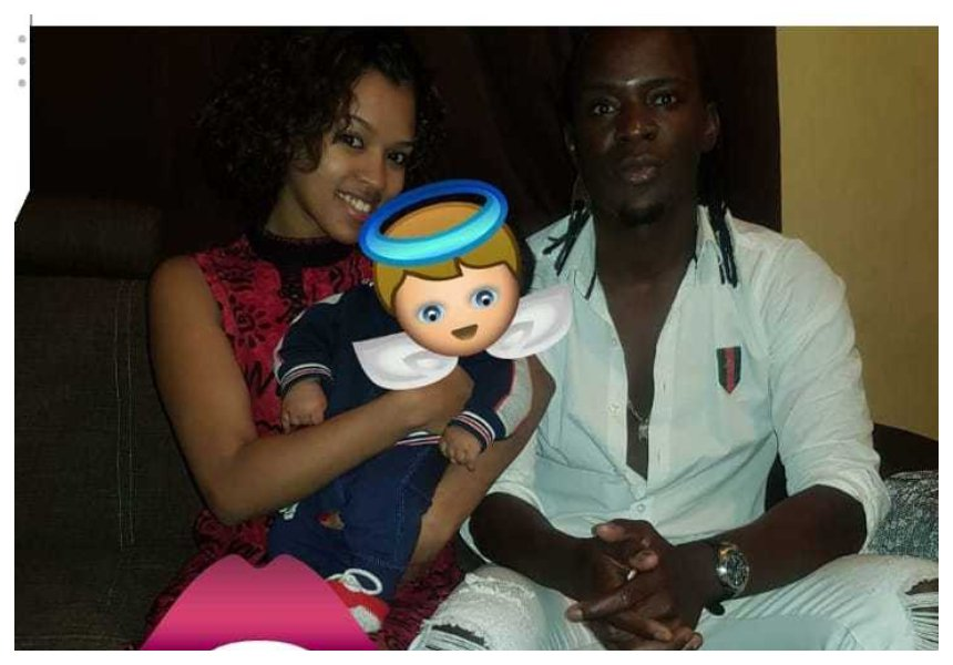 Willy Paul with his baby mama