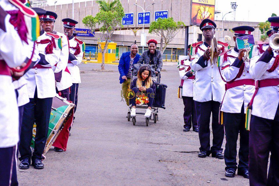 Mapenzi bado iko! Eric Omondi welcomes 'lost' girlfriendChantal back home like a true queen(photos)
