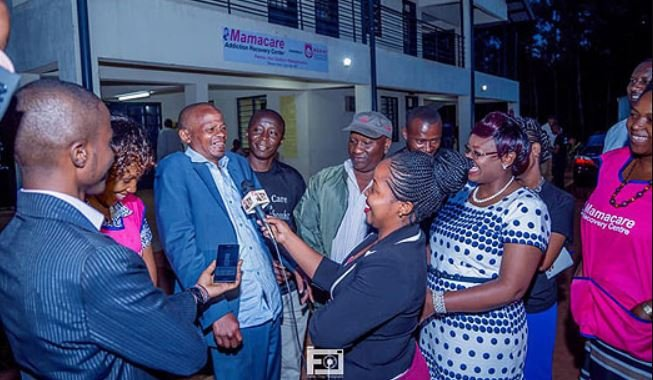 Martin Kamotho alias Githeri Man speaks to the press upon 'graduating'