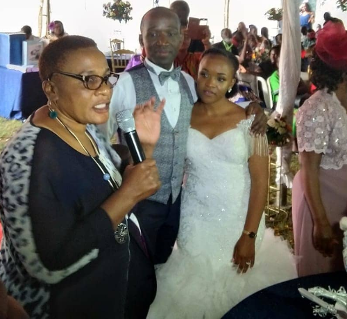Senior State House employee shamed for asking money from Kenyans to wed lover finally ties the knot(photos)
