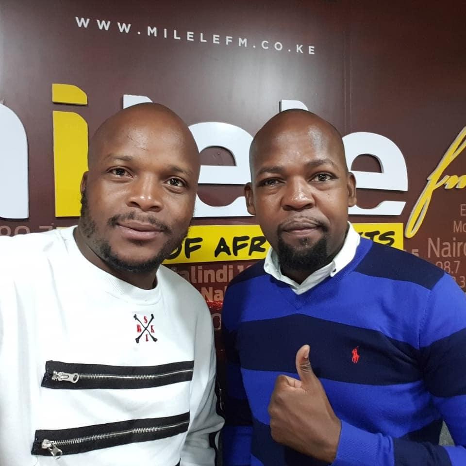Jalang'o and Alex Mwakideu