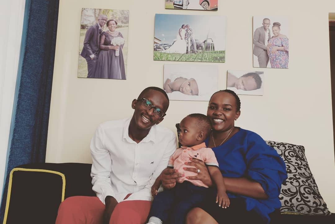 Njuguna, his wife and son