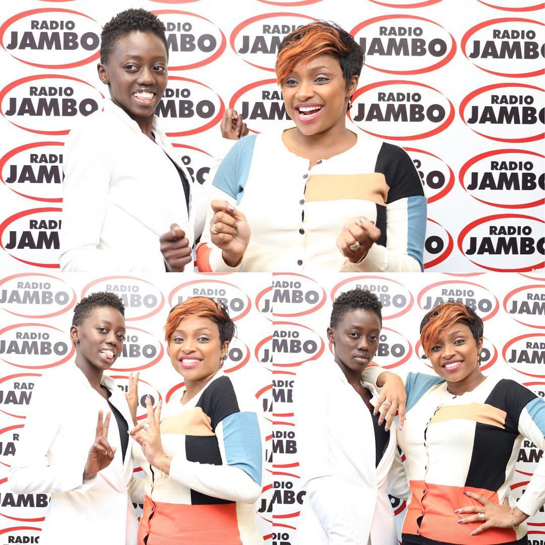 Rue poses with Massawe Japanni