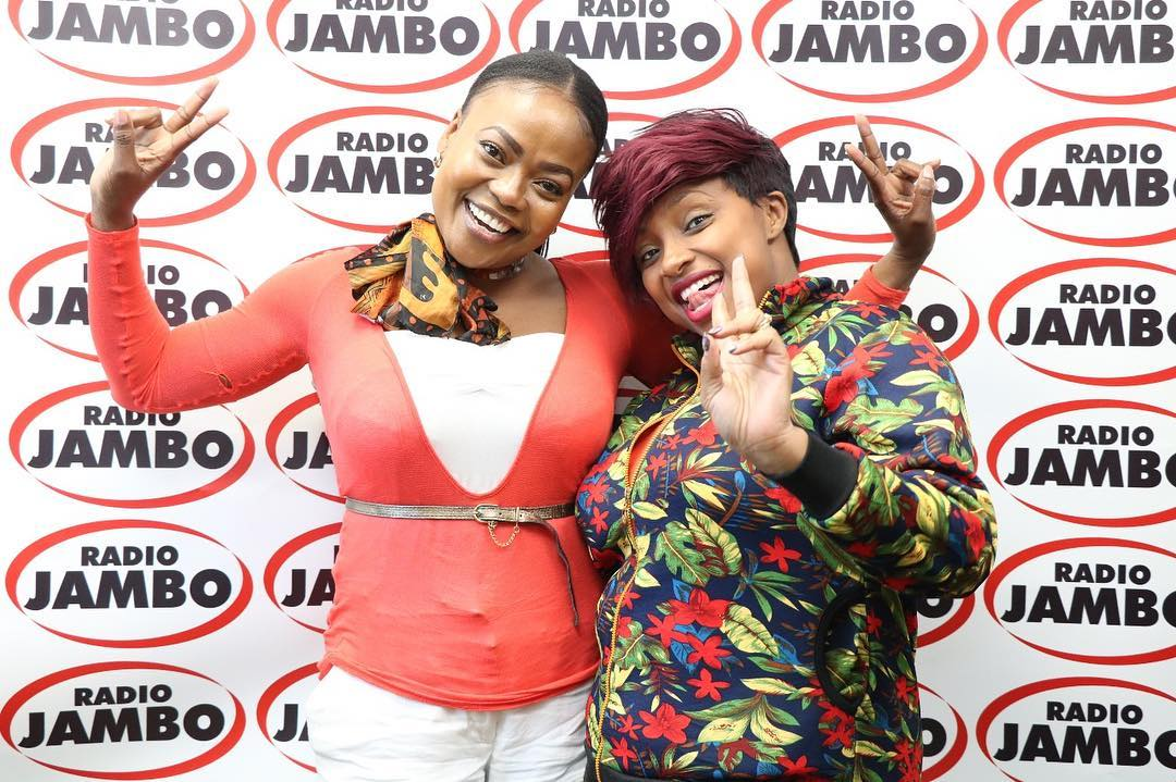 Rozinah Mwakideu with Massawe Japanni on Radio Jambo.