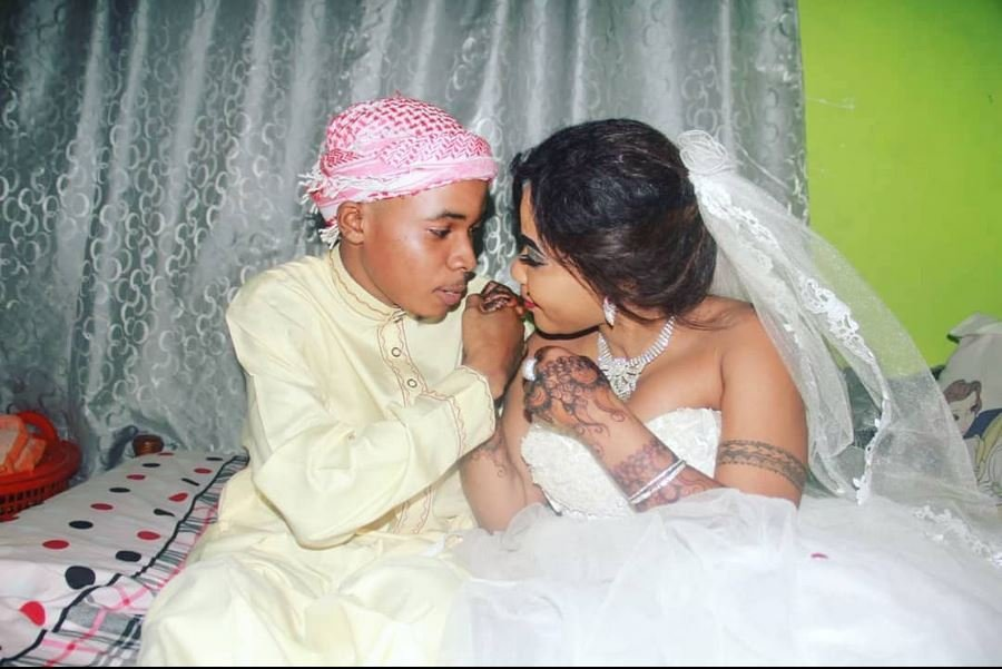 Amber Rutty and Mtopali during their wedding