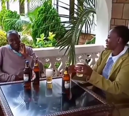 Bye Bye! Akothee buys Shamba boy several beers then fires him (Video)