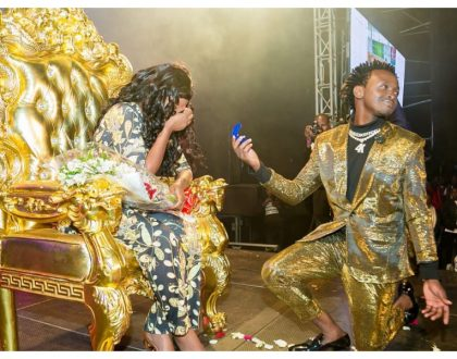 Bahati proposes to Diana Marua again almost two years after they got married in a traditional wedding (Photos)
