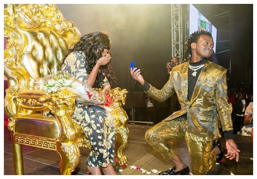 Bahati proposes to Diana Marua againalmost two years after they got married in a traditional wedding (Photos)