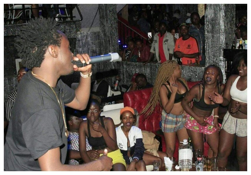 Photos of Bahati performing for half nak@d women at a nightclub spark divided opinions