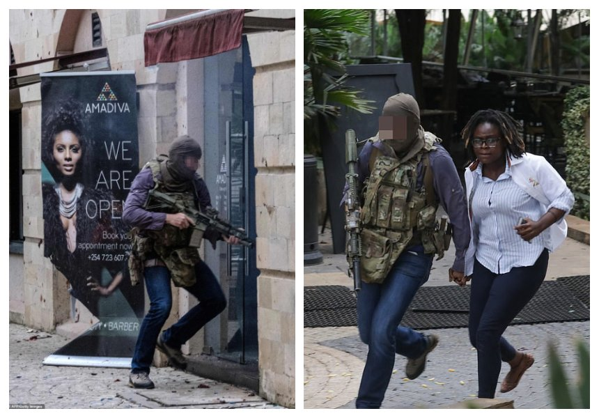 Another hero to celebrate! Photos of lone British special forces soldier who stormed into DusitD2 hotel and saved countless Kenyans