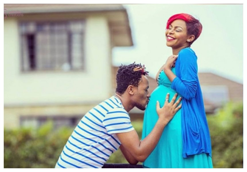 Size 8 flaunts her grown baby bump as she celebrates her 32nd birthday