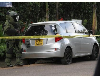 A skull with a gas mask!Nairobi design company that drew skull graphics on Dusit terrorists' vehicle set the record straight