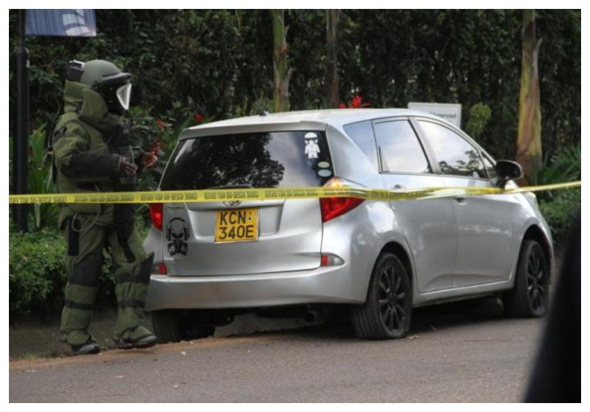 A skull with a gas mask! Nairobi design company that drew skull graphics on Dusit terrorists' vehicle set the record straight