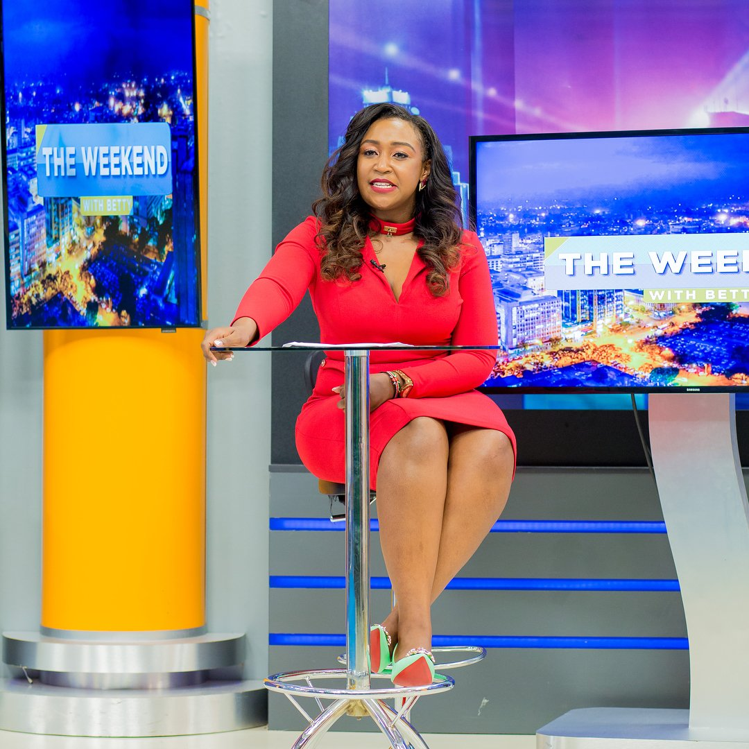 Betty Kyallo on her fist day on air on K24 TV
