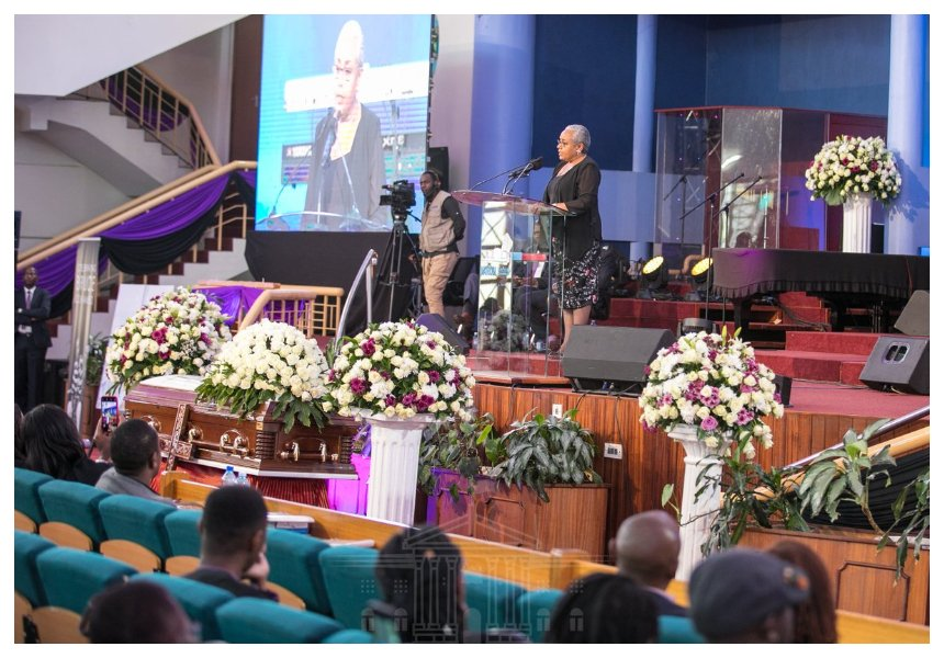First Lady Margaret Kenyatta eulogizes late Bruce Odhiambo as a trailblazer during requiem mass in Nairobi (Photos)