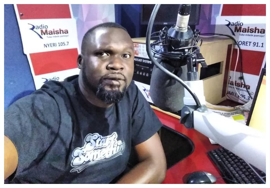 Radio Maisha presenter Nick Odhiambo grieves the death of his unborn baby