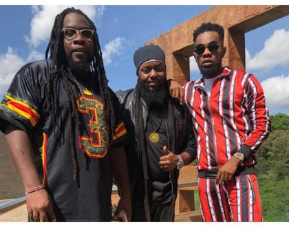 Patoranking and Morgan Heritage jet into the country for video shoot (Photos)