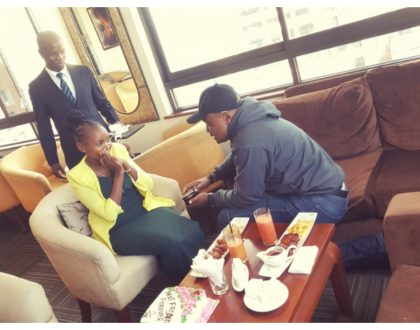Will you be my best friend forever? This is not a marriage proposal... Nairobi man proposes to his lady friend to be his BFF (Photos)
