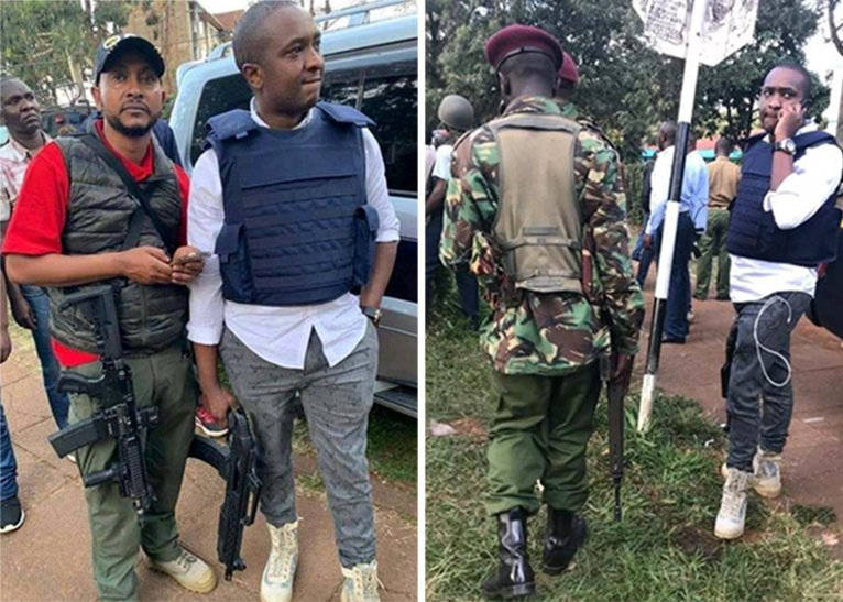 Steve Mbogo arrested after photos and videos with assault rifle, bulletproof