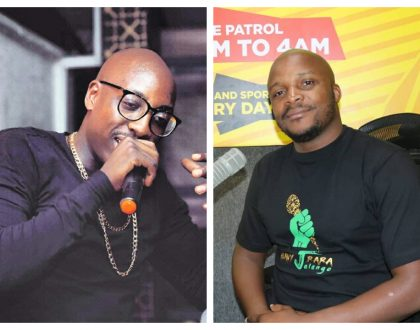 """Instead of asking us to play Kenyan music be the mentors"" Jalang'o tells Sauti Sol to share their secret with other musicians"