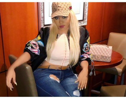 Vera Sidika earns bragging rights after rubbing shoulders with world's most famous socialites the Kardashians (Photos)