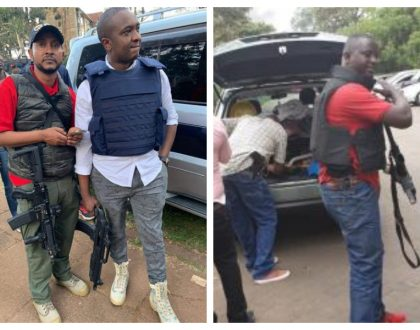 """I am a licensed firearms holder"" Steve Mbogo explains why he turned up at Dusit hotel armed to the teeth (Photos)"