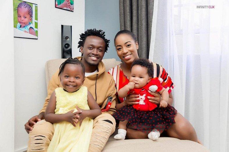 L-R: Mueni, Bahati, Diana Marua and baby Heaven
