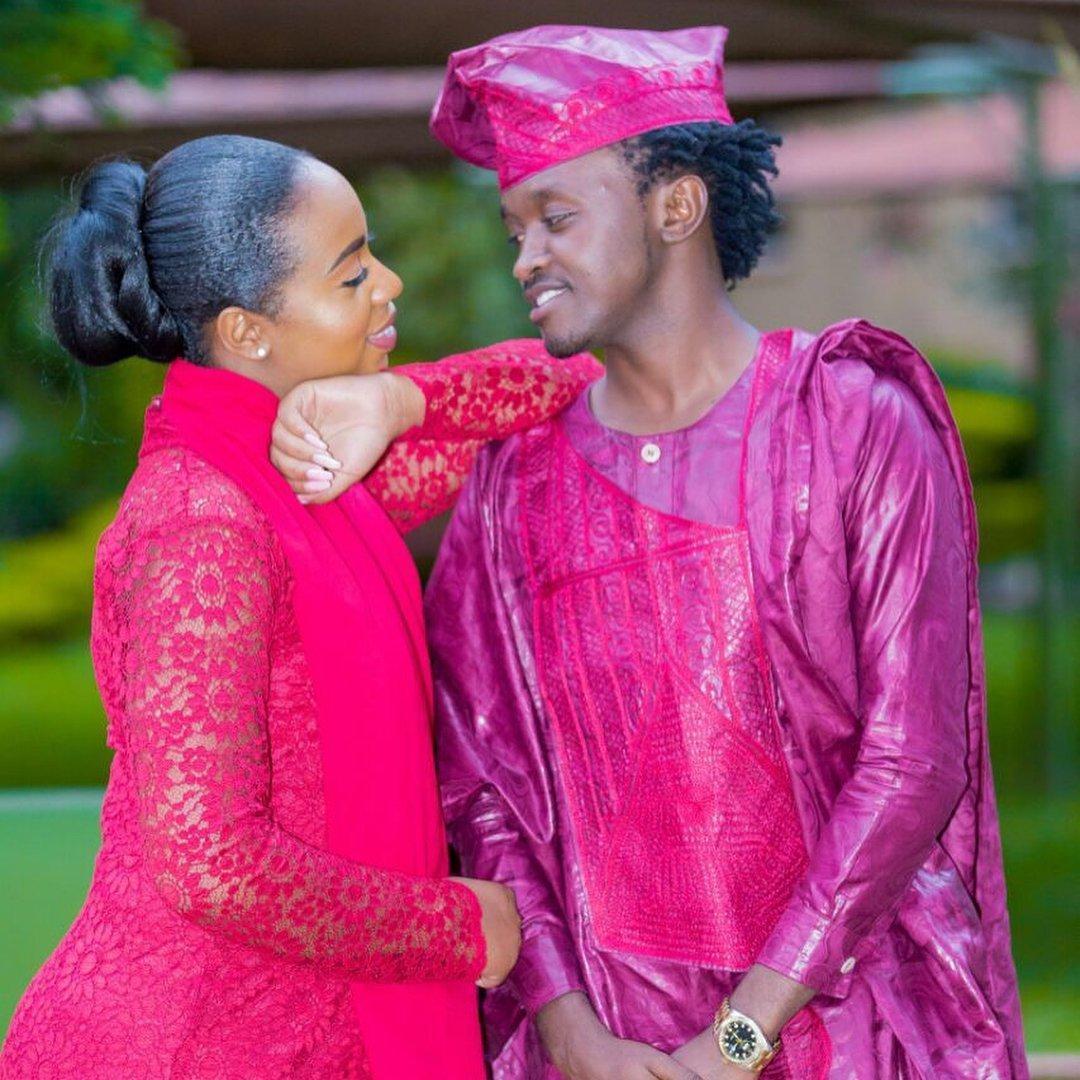 Bahati and Diana Marua during their traditional wedding