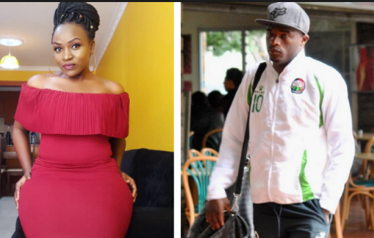 Did Dennis Oliech just dump his K24 TV girlfriend Paula Mumia after landing KSh 3 million deal?(screenshots)