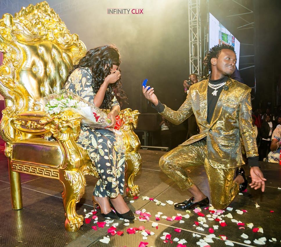 Diana Marua sheds tears of joy after Bahati proposed to her again