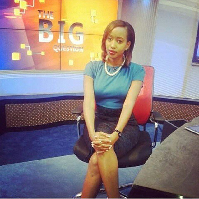 Janet Mbugua while she was still an anchor at Citizen TV