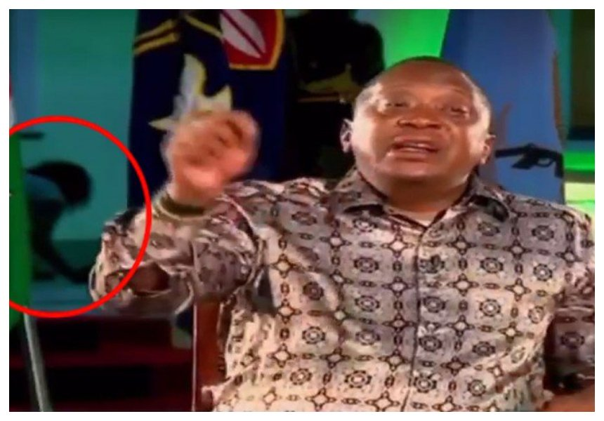 Kanze Dena forced to explain why employee was caught crawling behind president Uhuru in Mombasa during speech