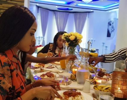 Diamond finally introduces Tanasha to his mother and sister (Video)