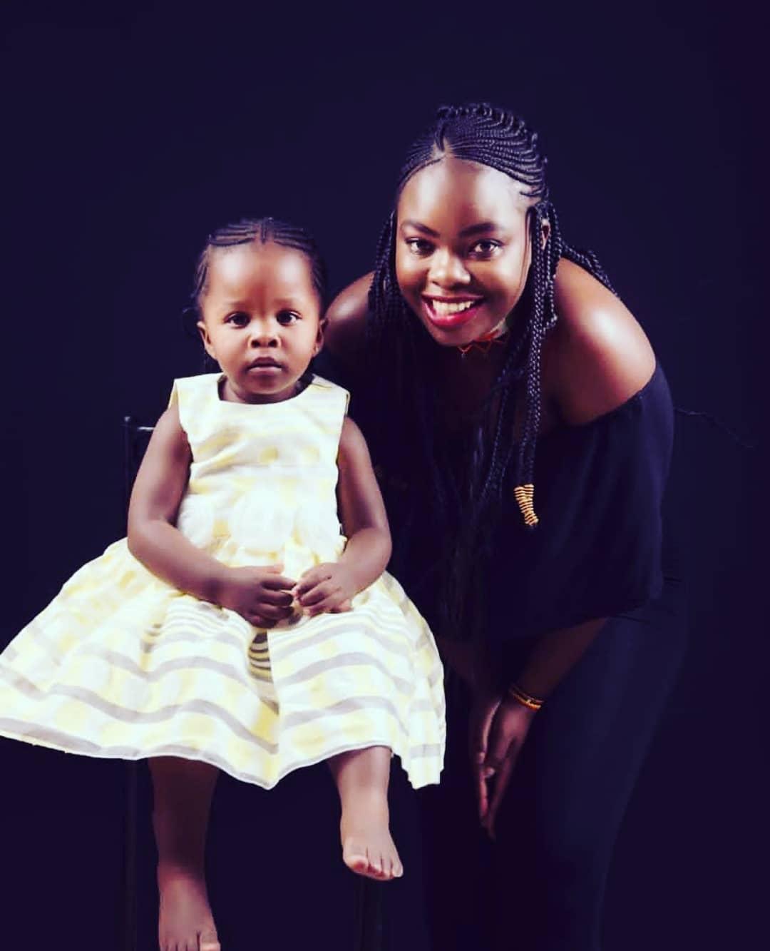Yvette Obura with her daughter Mueni
