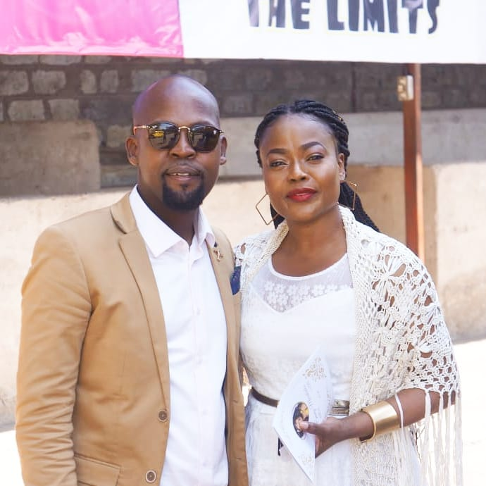 Alex Mwakideu with his other sister Rozinah Mwakideu who was married to Robert Burale