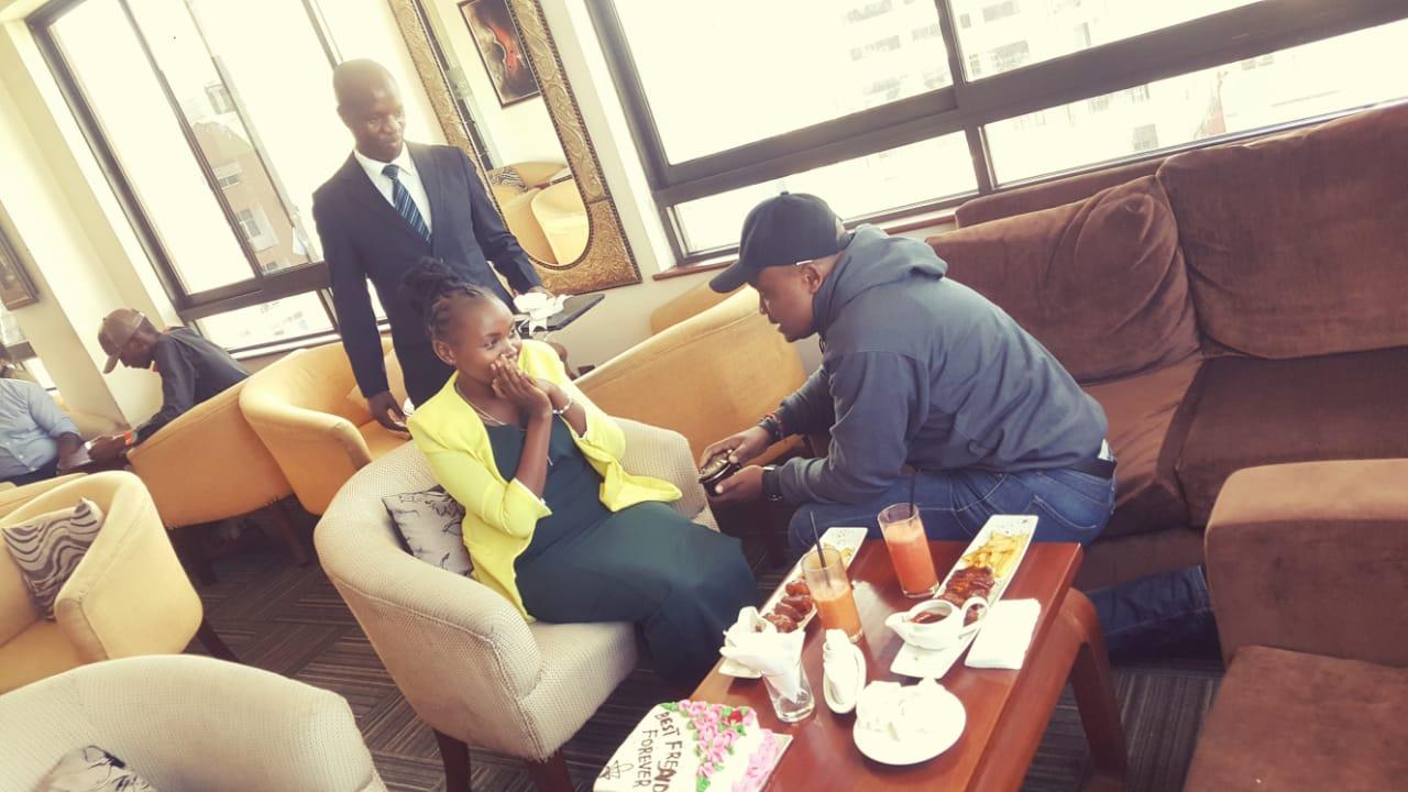 Murua Muziki proposes to Wanjiku Mwaura