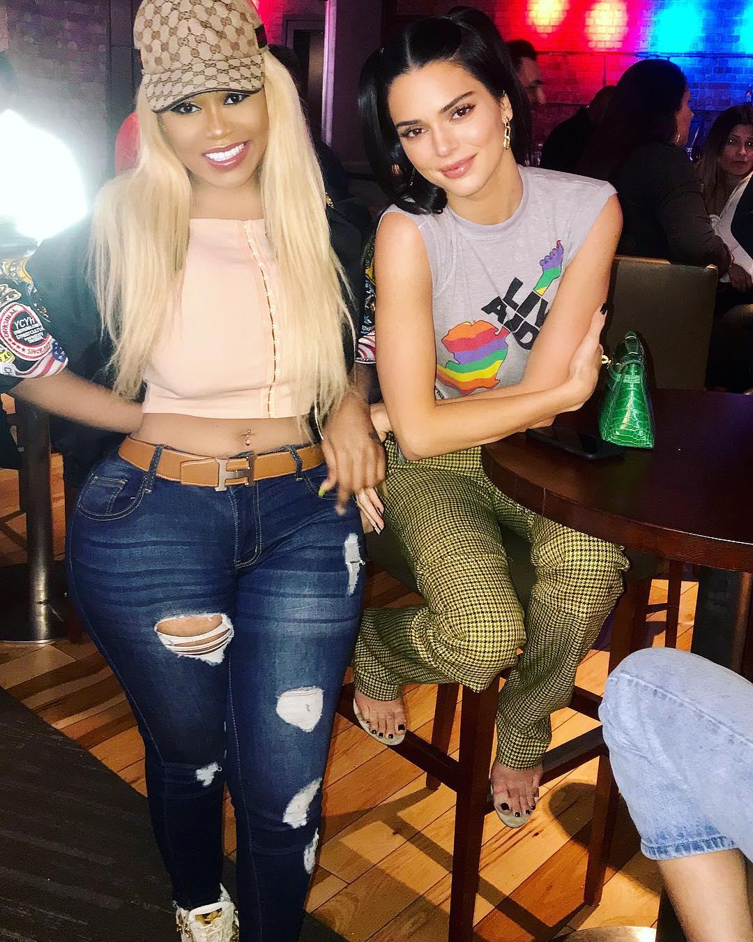 Vera Sidika poses with Kendall Jenner