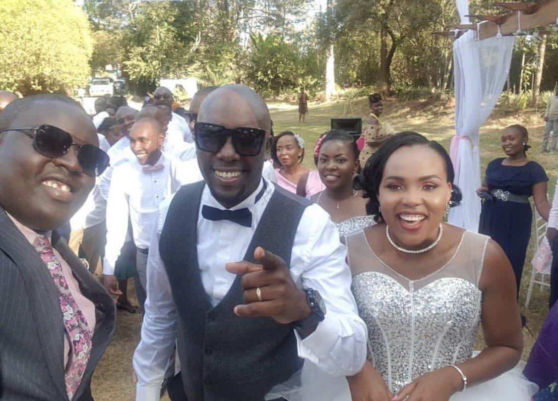 Photos from Dennis Okari's secret wedding