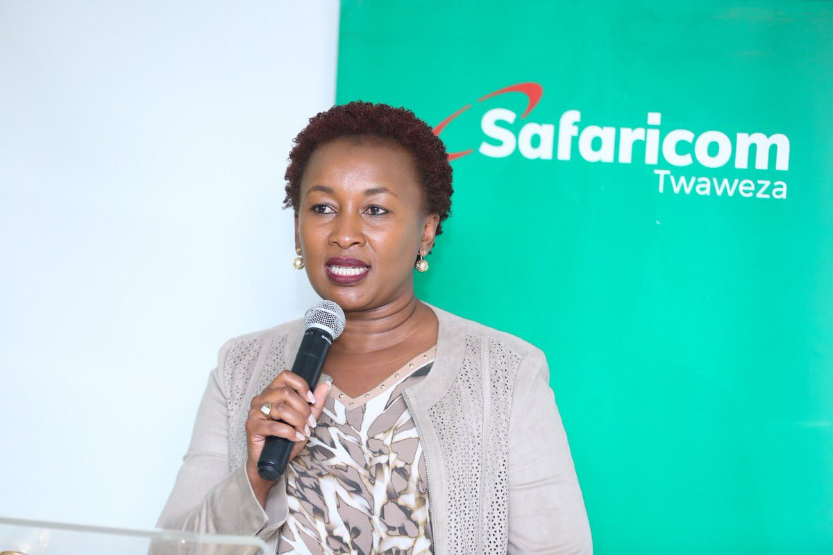 Safaricom's Chief Customer Officer Sylvia Mulinge