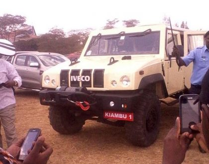 Kabogo's son gives Kenyans a detour of his father's Ksh 20m armoured tanker (Video)