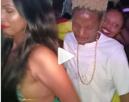 Kusuguliwa ile mbaya! Eric Omondi gets steamy dance from girlfriend as birthday gift(video)