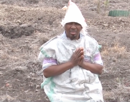 Video of pastor Nganga in the wilderness fasting for 6 days leaves Kenyans in stitches(video)