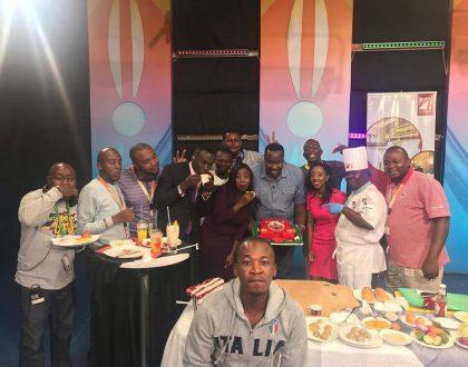 32-year-old Raburu gets surprise birthday party from Citizen TV crew(photos)