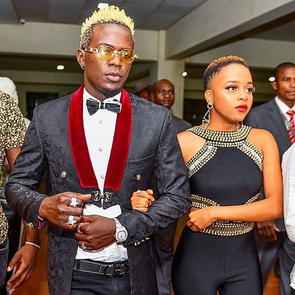 Willy Paul happy for Nandy as the two graced the red carpet in Nairobi yesterday evening