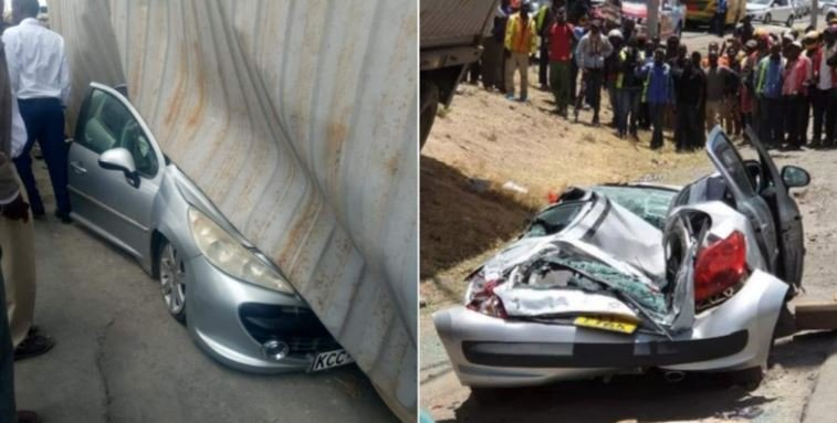 Mother whose car was crushed in Syokimau shares how she cheated death
