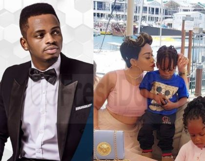 ¨I salute you mama Tiffah¨ Diamond Platinumz now appreciates Zari Hassan for being a good mother to his 2 kids but fans think he´s just not moved on from Zari