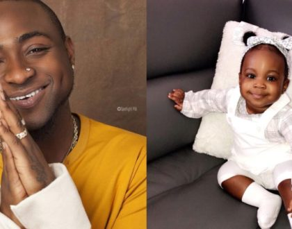 Davido´s adorable Princess, Hailey Adeleke takes her daddy by surprise as she turns 2 years old