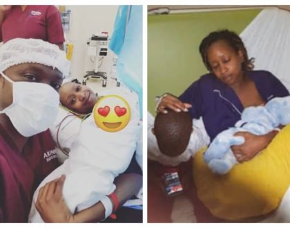 The Mbuguas finally reveal face of second baby months after being born(photos)